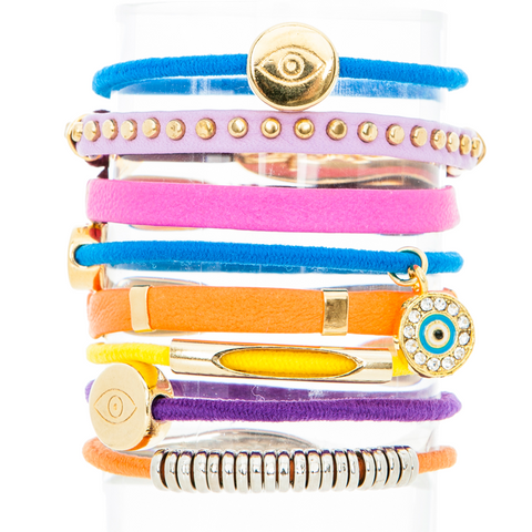 Sunshine Hair Band Bracelet Stack