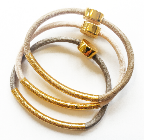 Totally Tubular Hair Band Bracelet Stack - SOLD OUT PLEASE EMAIL US