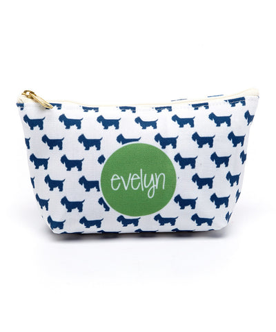 Aggie Blue Canvas T-Bottom Pouch