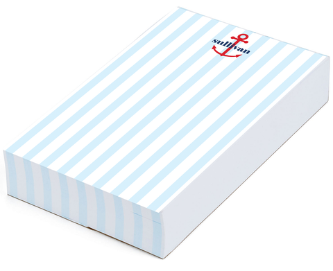 Anchor Stripes Notepad