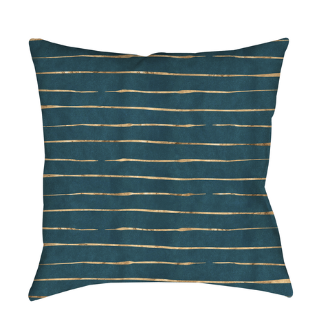 Aqua Stripes Indoor Pillow
