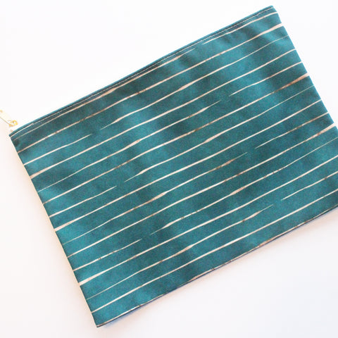 Sample Sale: Artistic Stripes Large Flat Pouch