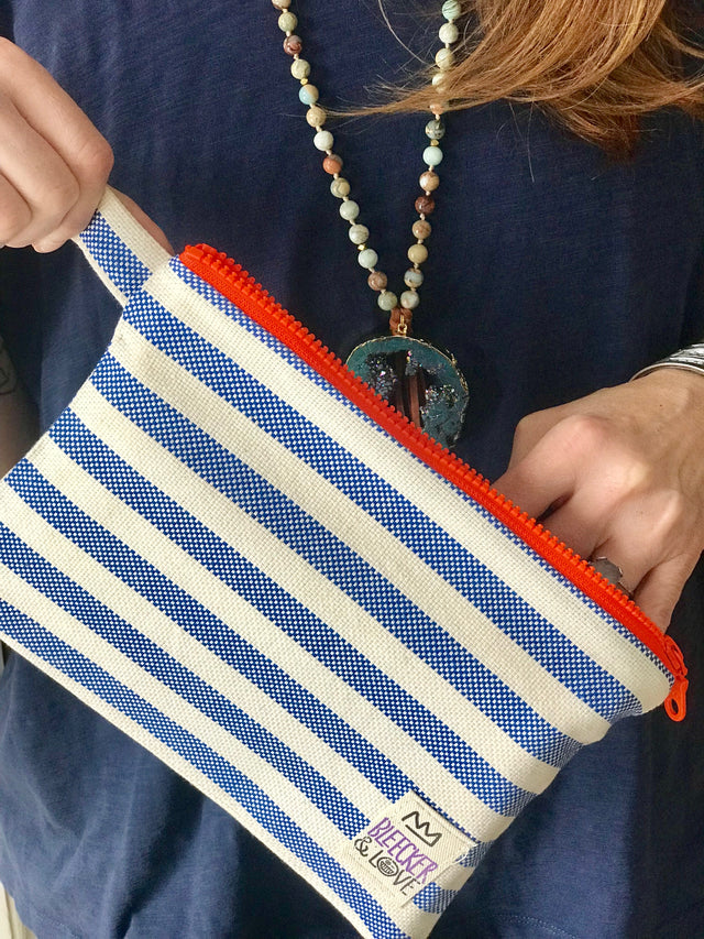 Bateau Stripe Pouch- 2 Sizes Available - milogiftshop