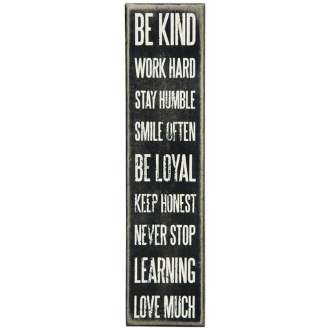 Be Kind Box Sign