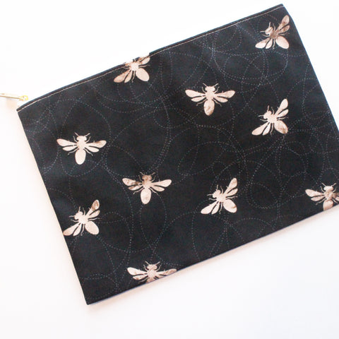 Sample Sale: Busy Bees Large Flat Pouch