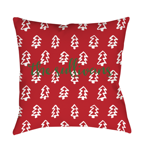 Christmas Trees Indoor Pillow
