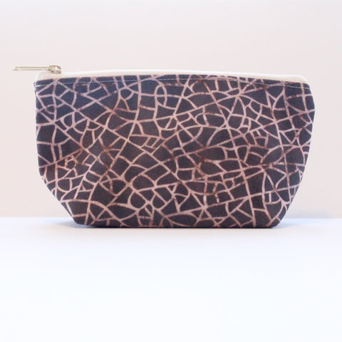 Sample Sale: Crackle Brown T-Bottom Pouch