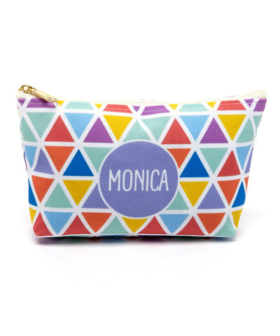 Diamonds Canvas T-Bottom Pouch