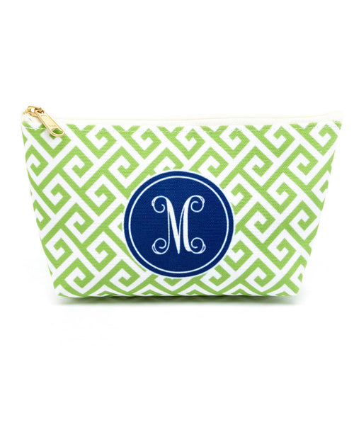 Santorini Green Canvas T-Bottom Pouch