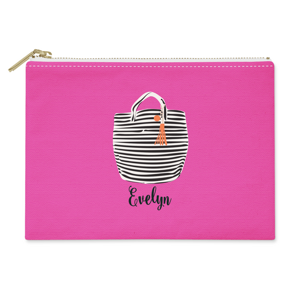 Haute Stripes Canvas Flat Pouch