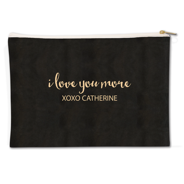 I Love You More Canvas Flat Pouch - milogiftshop