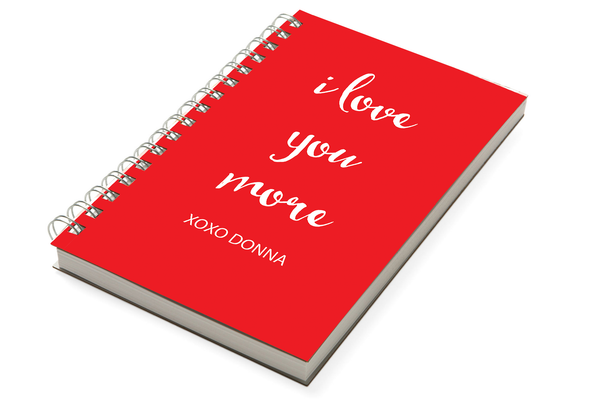 Love You More Red Chunky Notebook