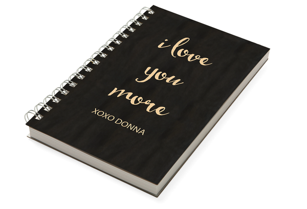 Love You More Chunky Notebook