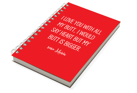 Love Humour Chunky Notebook