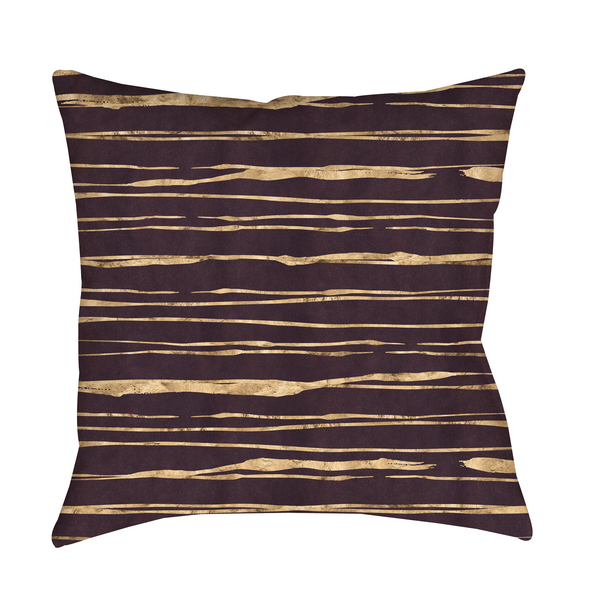 Merlot Stripes Indoor Pillow