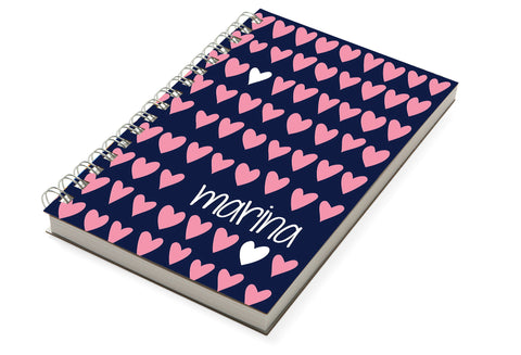 Modern Hearts Chunky Notebook