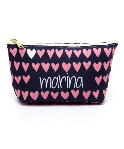 Modern Hearts Canvas T-Bottom Pouch