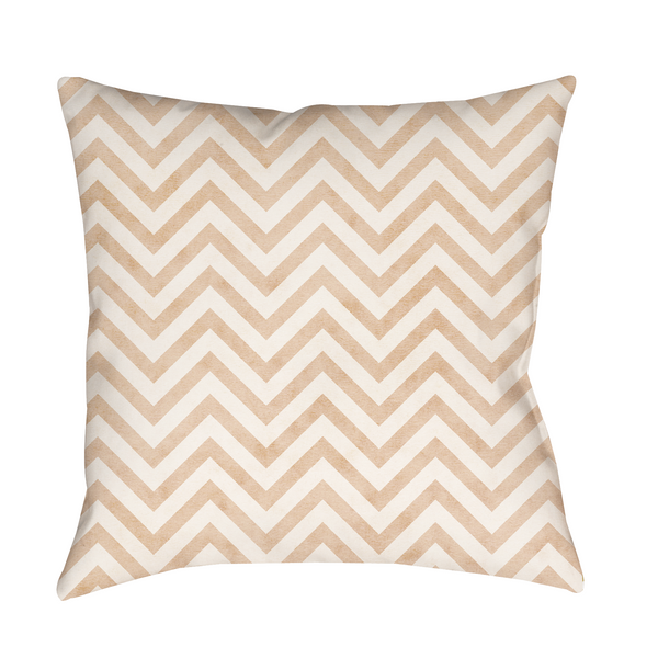 Natural Chevron Indoor Pillow