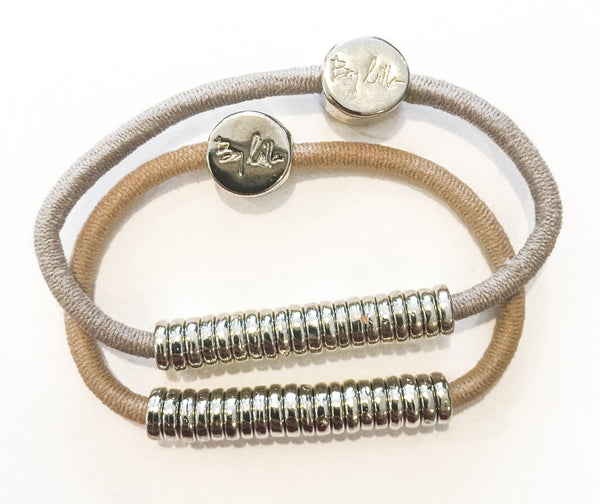 Silver Disks Hair Band Bracelets - SOLD OUT PLEASE EMAIL US
