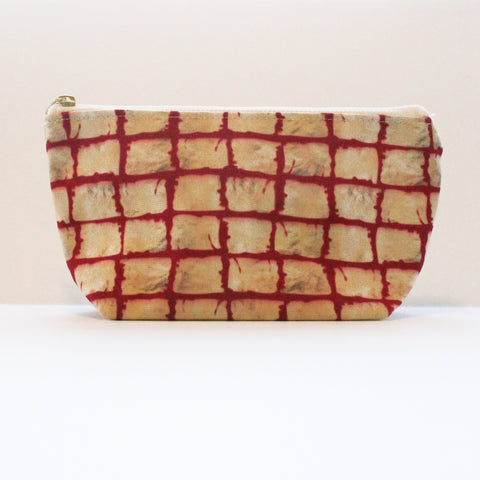 Sample Sale: Painted Squares T-Bottom Pouch
