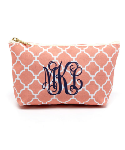 Peach Mod Canvas T-Bottom Pouch