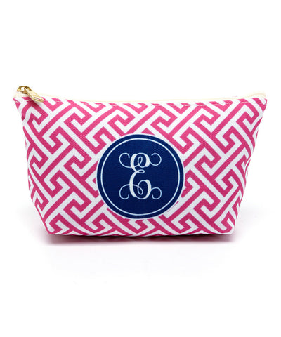 Mykonos Pink Canvas T-Bottom Pouch