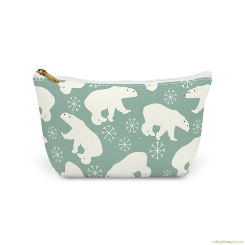 Polar Bears Canvas T-Bottom Pouch