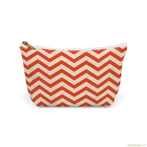 Rustic Chevron Canvas T-Bottom Pouch