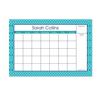 Elizabeth Small Monthly Calendar