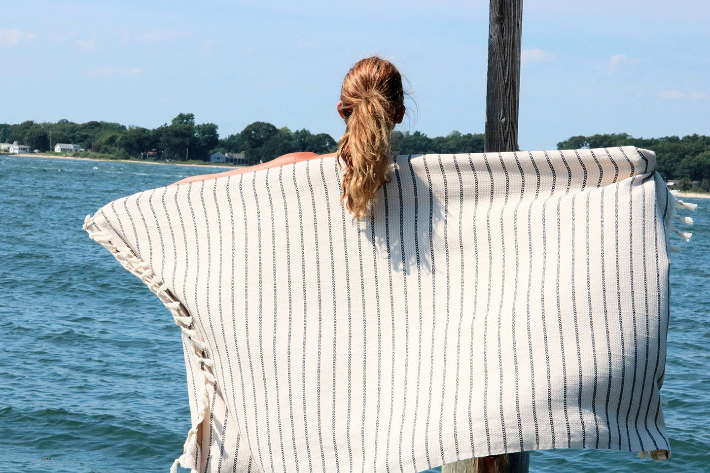 Neutral Stripes Quick Dry Peshtemal Turkish Towel - milogiftshop