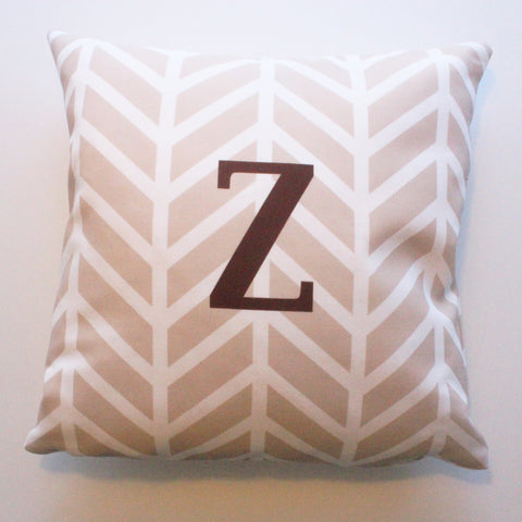 Sample Sale: Chevron Tan Indoor Pillow