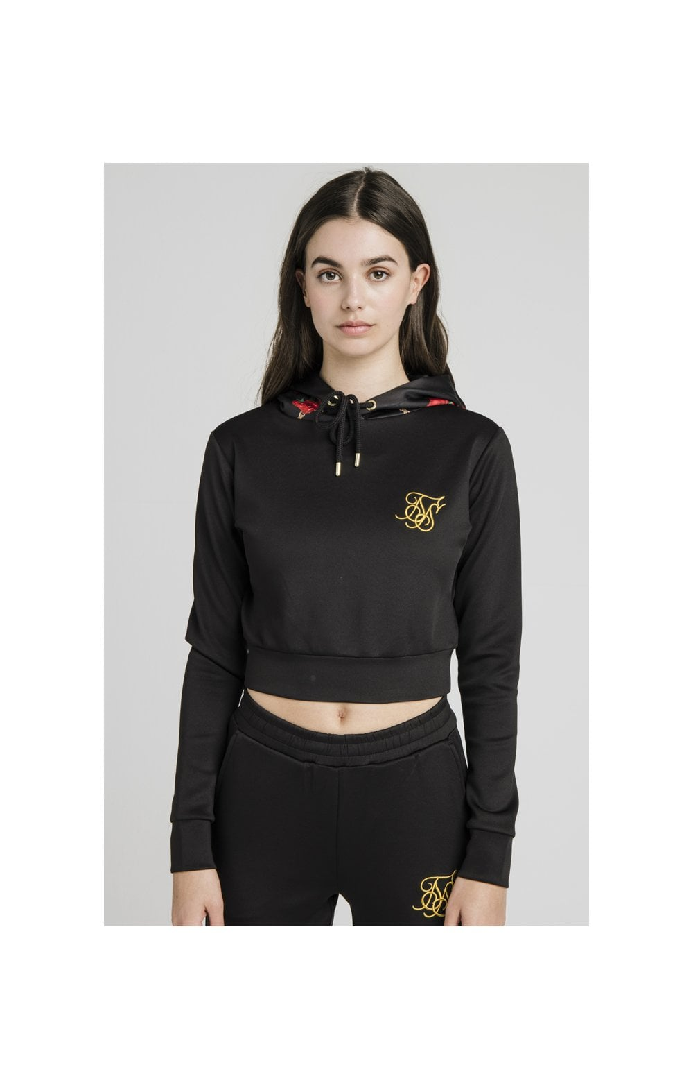 SikSilk Maestoso Top Sportivo Corto Nero