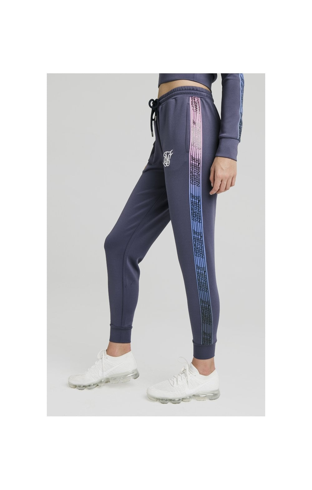 SikSilk Sbiadito Runner Pantaloni Spotivi Night Shadow