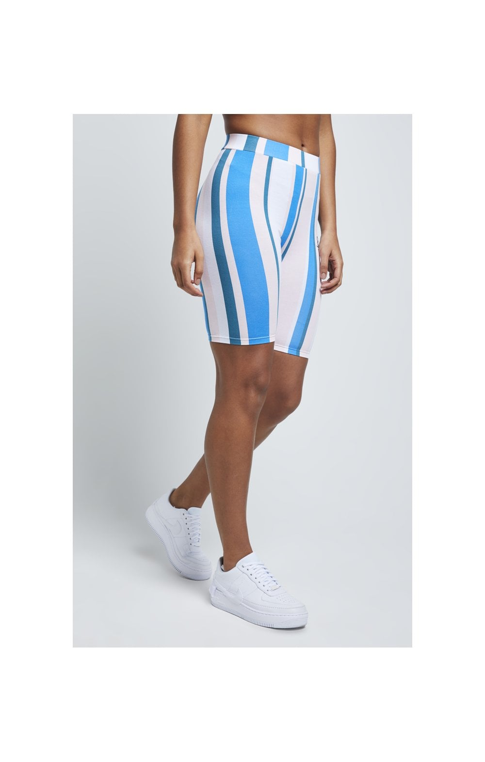 SikSilk 90's Stripe Cycle Shorts - Rotary Stripe (4)