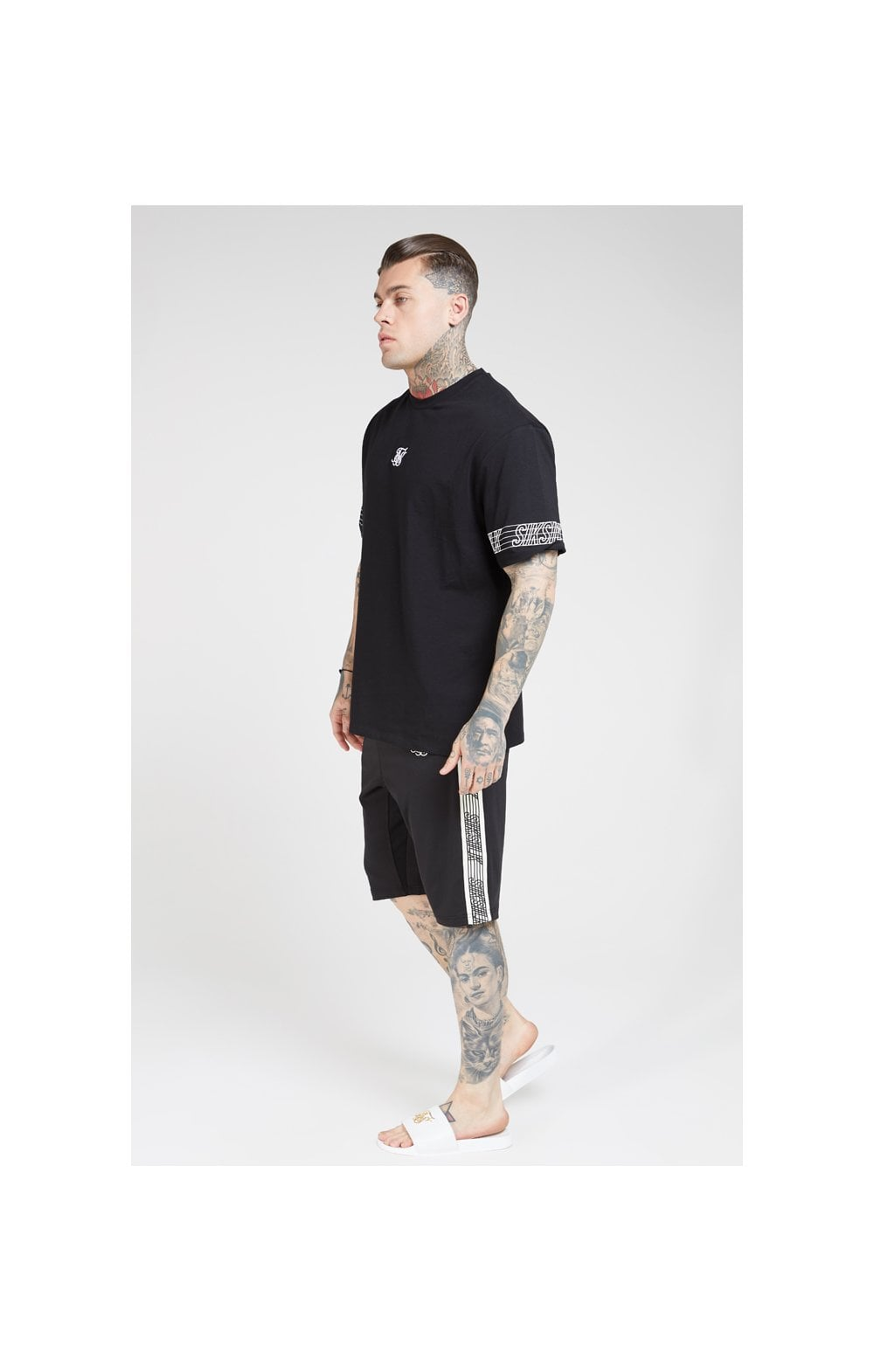 SikSilk S/S Essential Runner Oversized Tee – Black (4)