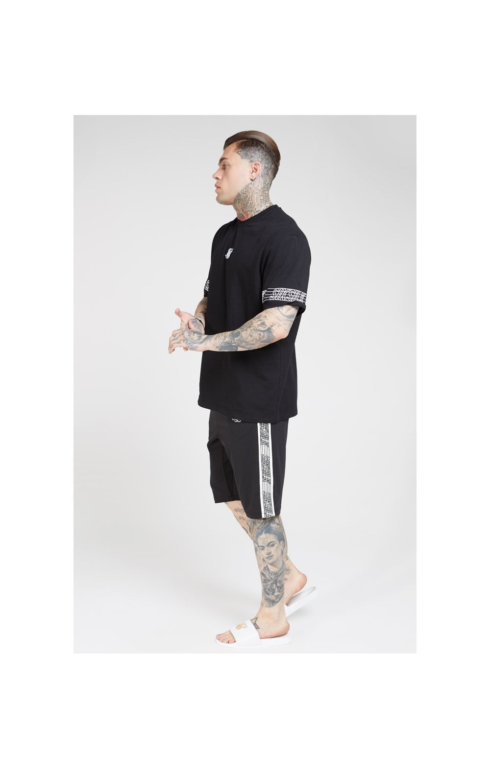 SikSilk S/S Essential Runner Oversized Tee – Black (5)