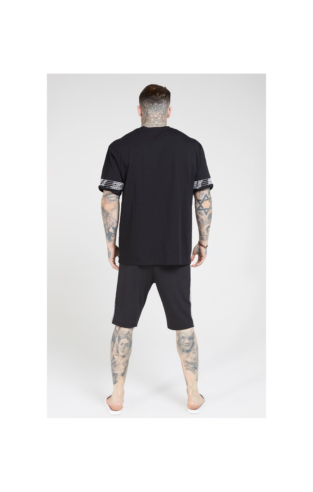 SikSilk S/S Essential Runner Oversized Tee – Black (6)