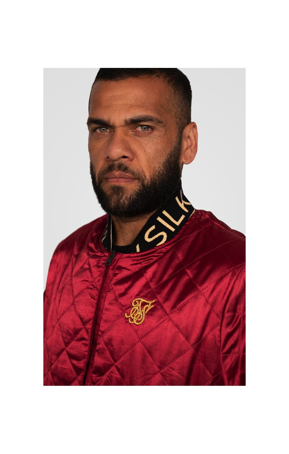 SikSilk X Dani Alves Reversible Bomber - Rosso Scuro & Nero (1)