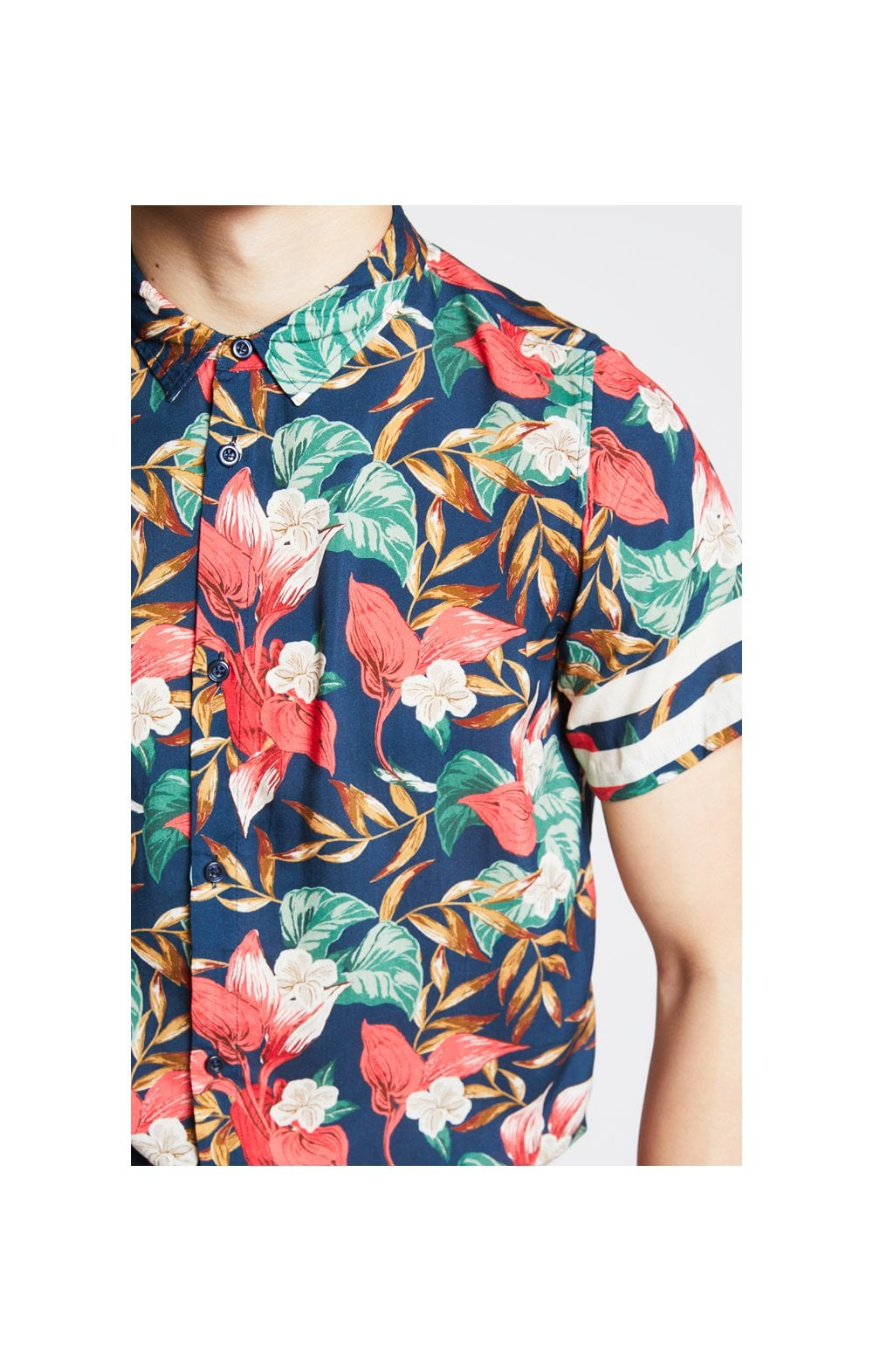 "Illusive London Tropicale Camicia ""Resot' Tropicale Leaf"