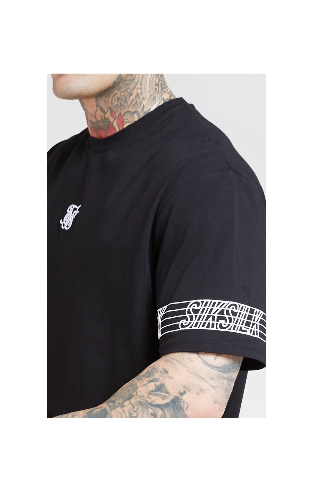 SikSilk S/S Essential Runner Oversized Tee – Black (1)