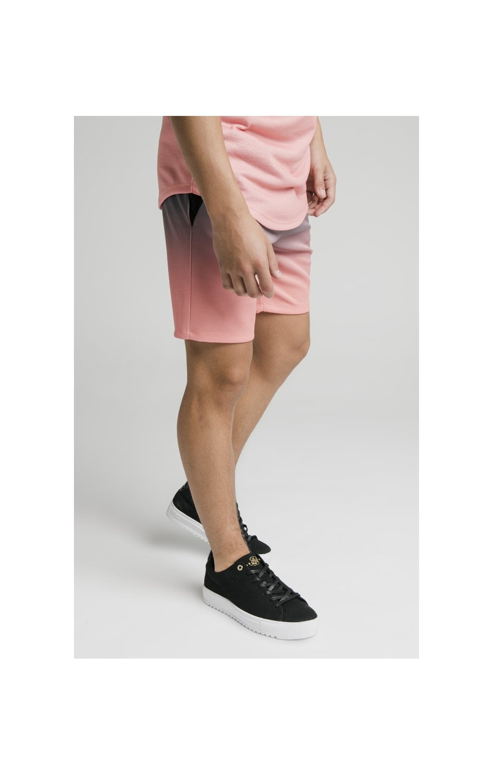 Illusive London Poly Fade Shorts - Grey & Peach (2)
