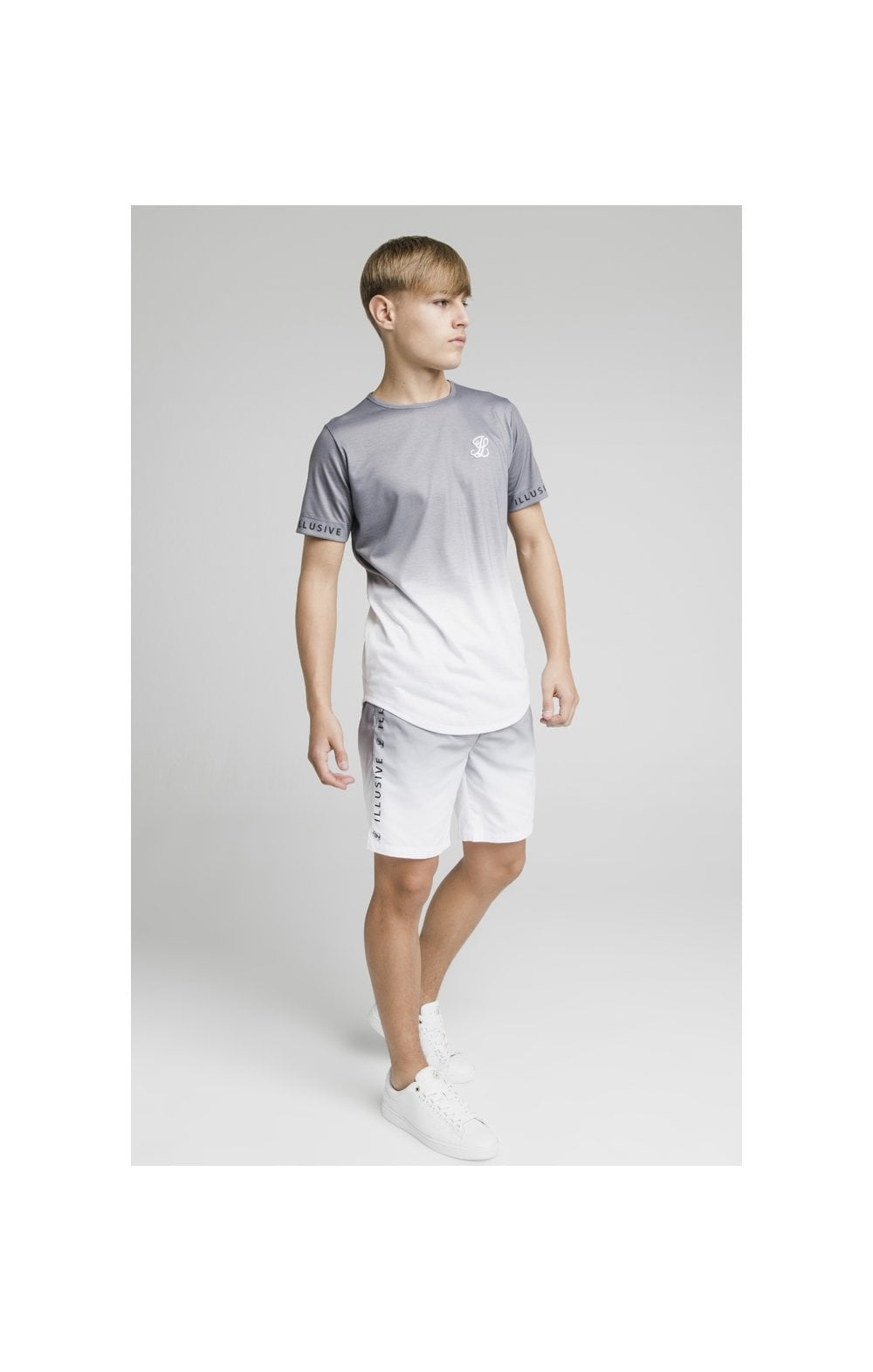 Illusive London Fade Swim Shorts - Grey & White (5)