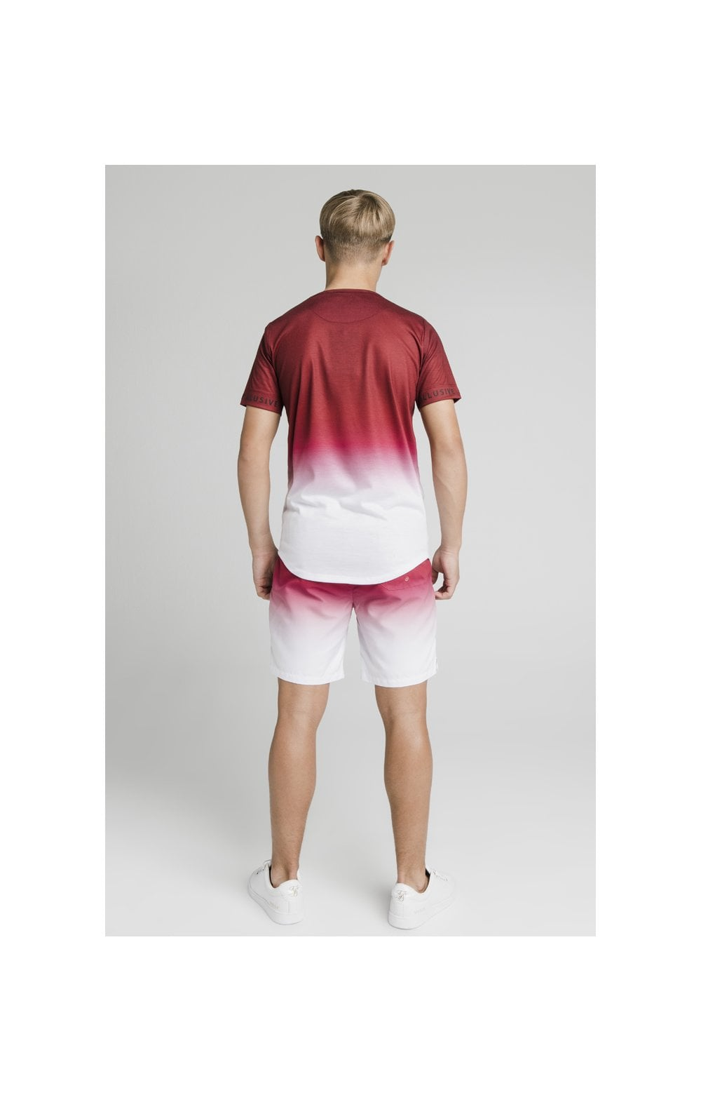 Illusive London Fade Swim Shorts - Red & White (7)