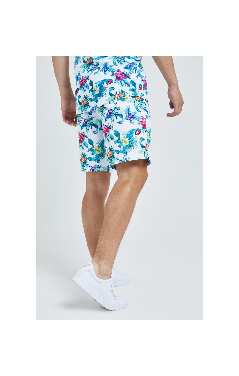 Illusive London Swim Shorts - White & Floral (5)