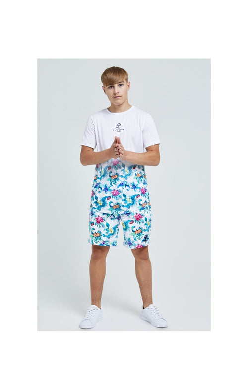 Illusive London Swim Shorts - White & Floral
