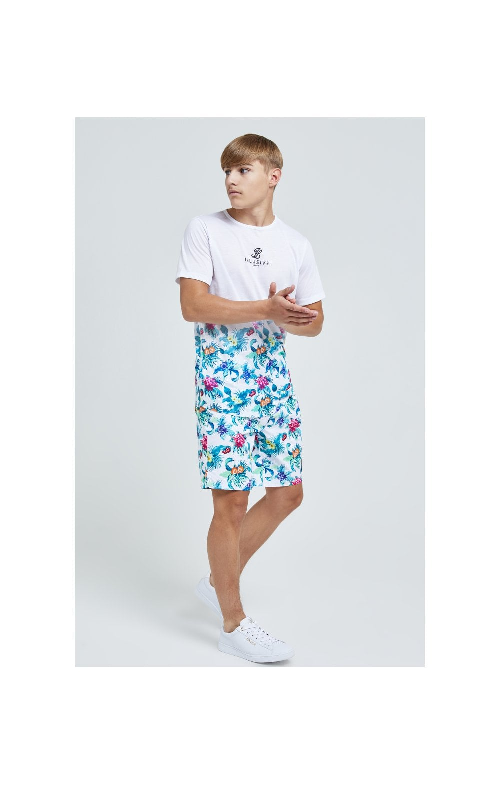 Illusive London Swim Shorts - White & Floral (6)