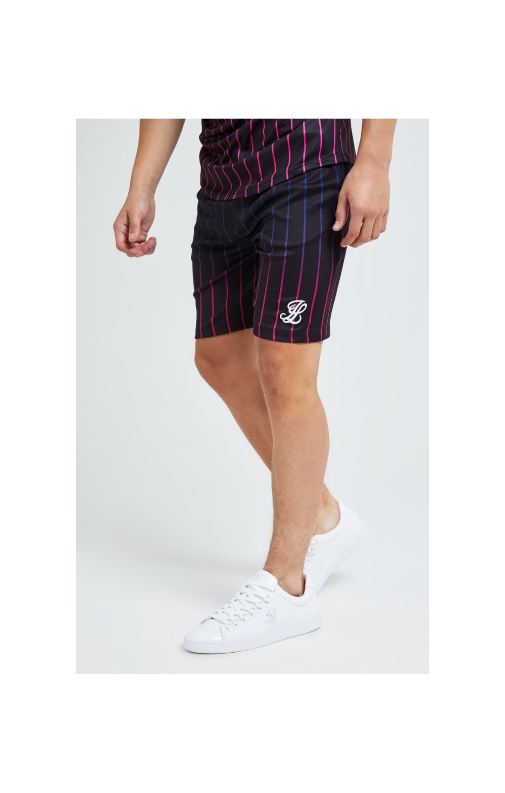Illusive London Fade Stripe Shorts - Black