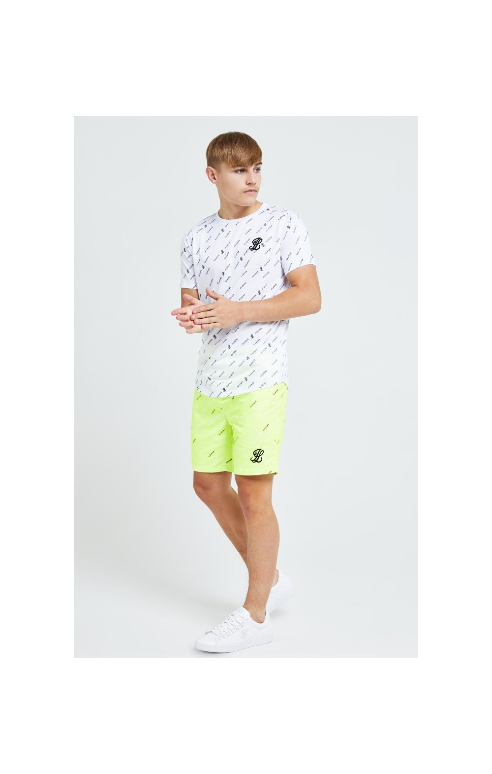 Illusive London AOP Swim Shorts - Neon Yellow (4)
