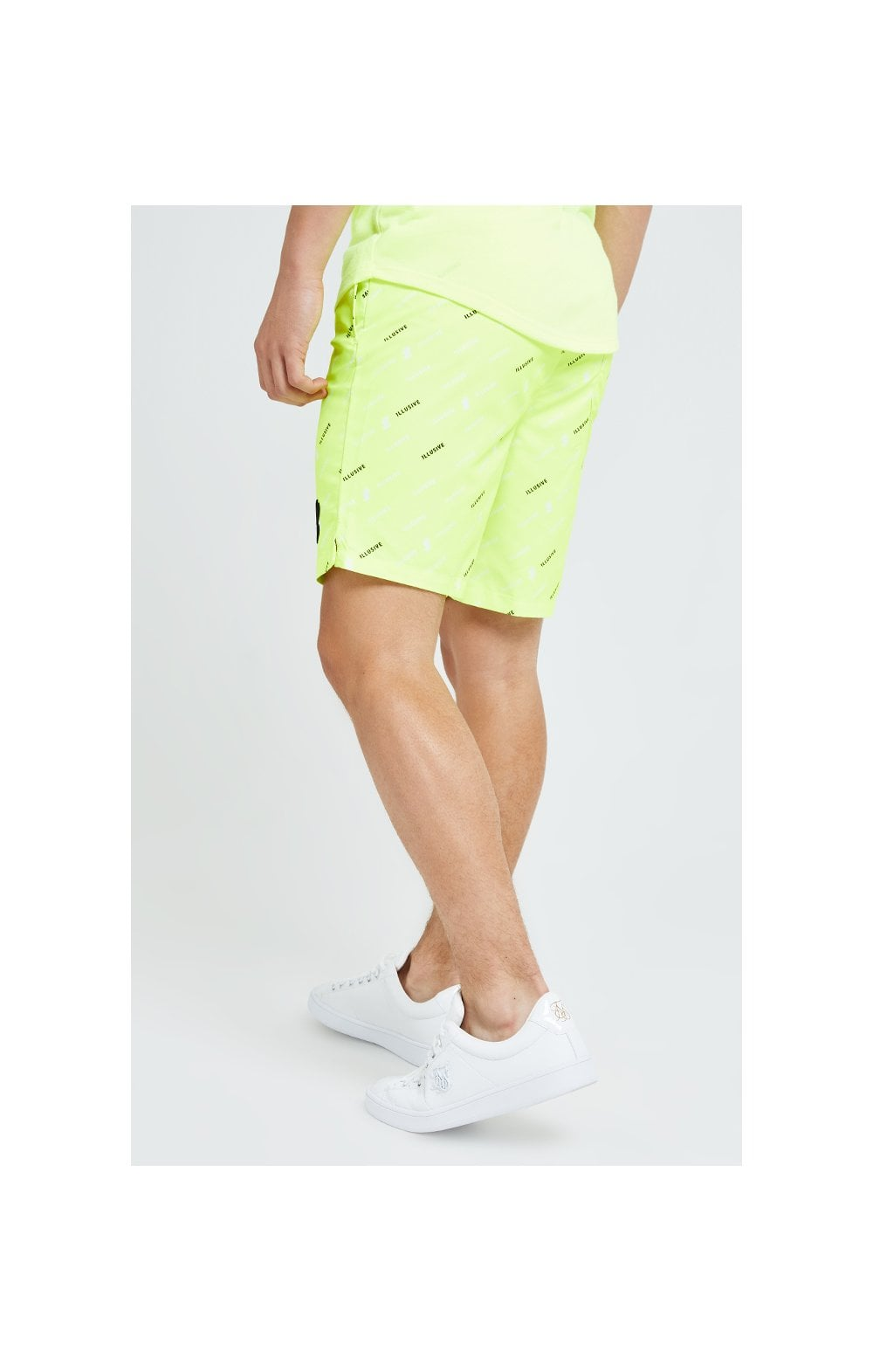 Illusive London AOP Swim Shorts - Neon Yellow (2)