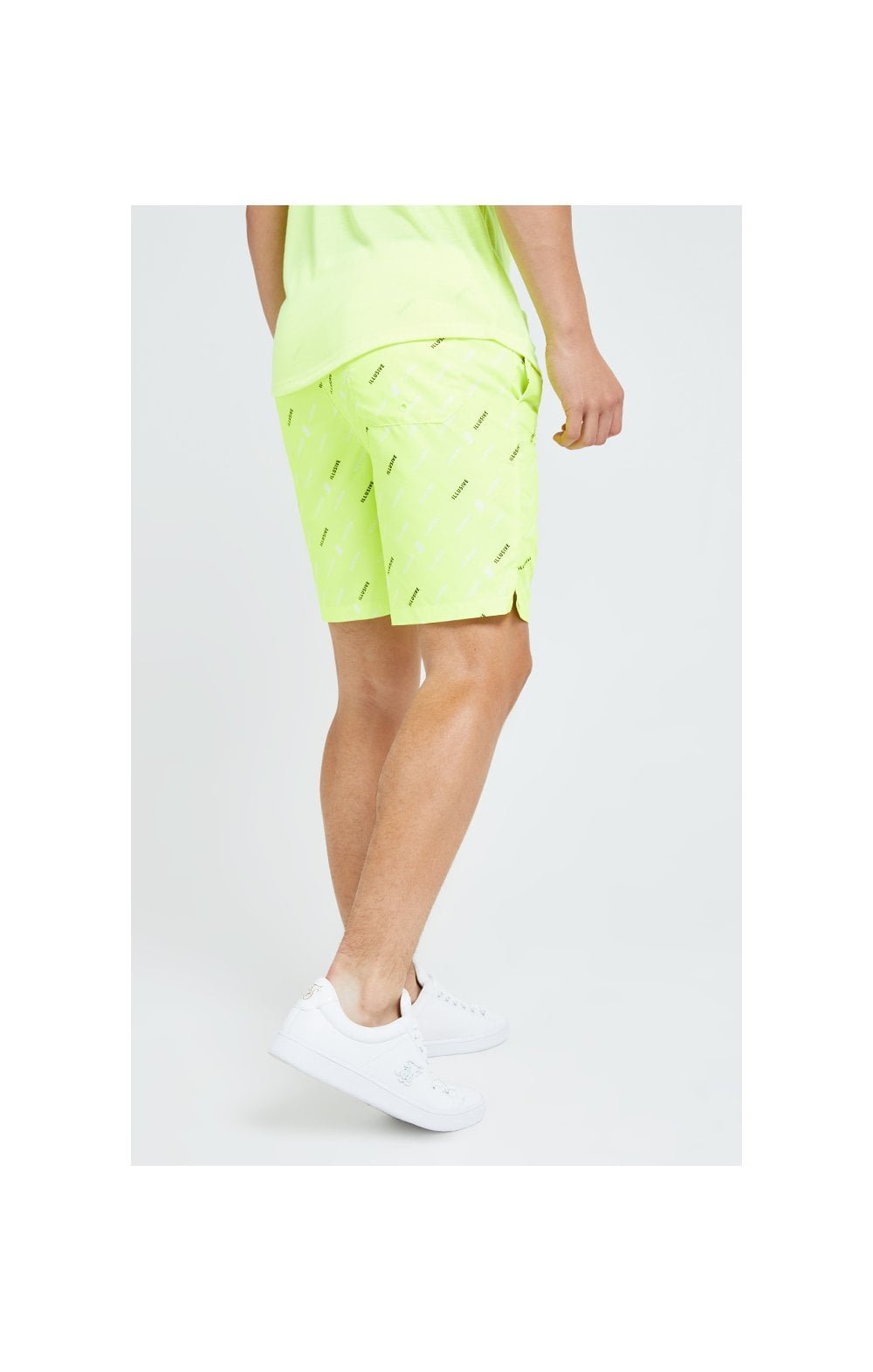 Carica l'immagine nel visualizzatore di Gallery, Illusive London AOP Swim Shorts - Neon Yellow (3)